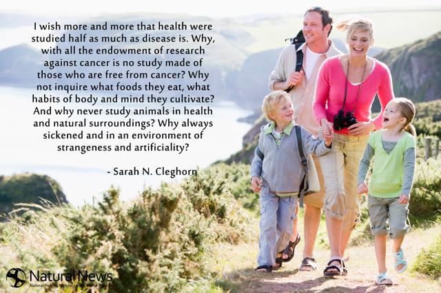 I wish more and more that health were studied half as much as disease is…