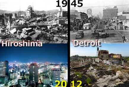 Hiroshima/ Detroit then and now...